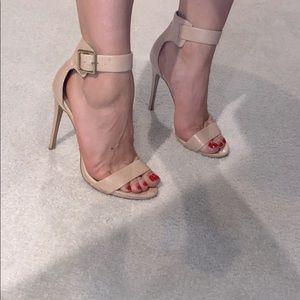 Steve Madden Nude double strap Heels